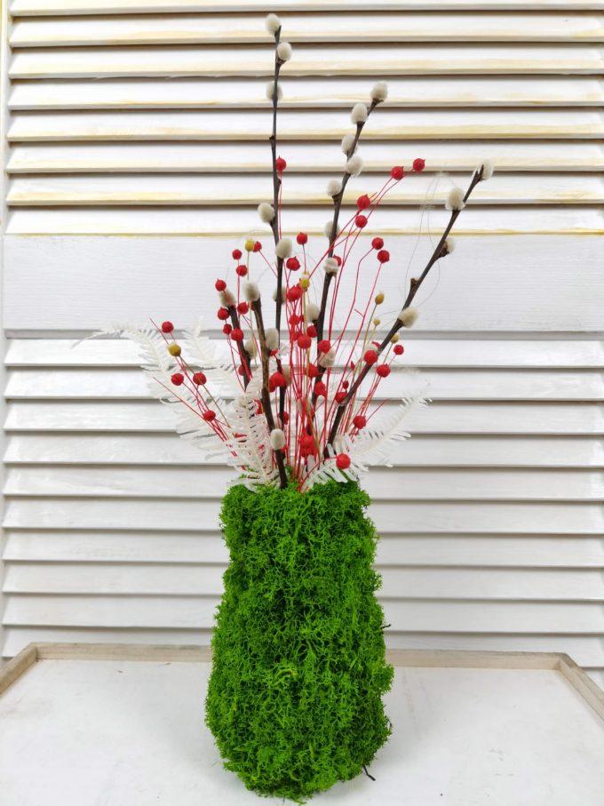 Aranjament flori uscate, plante stabilizate atemporal